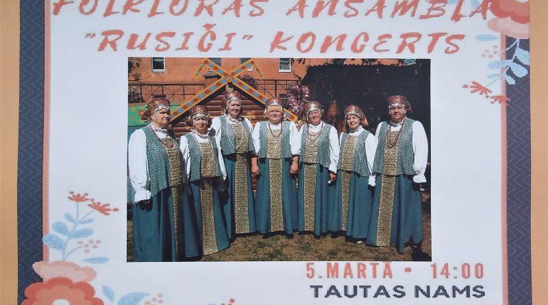 "Folkloras ansambļa ""Rusiči"" koncerts"