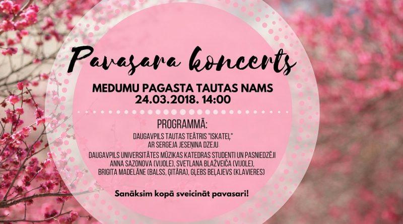 Pavasara koncerts Medumos